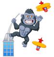 Cartoon angry king kong vector image