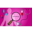 chemotherapy chemo cancer treatment medication vector image
