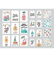 Christmas card and gift tag patterns set vector image