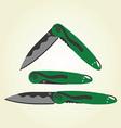 clipart - folding pocket knives vector image