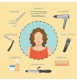 Hairdressing Salon Decorative Icons vector image