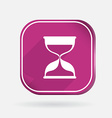 hourglass waiting Color square icon vector image
