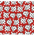 seamless background with funny skulls vector image