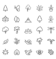 Set of Outline Stroke Natural Icons vector image