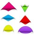 Set of sticker corners vector image