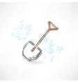shovel grunge icon vector image