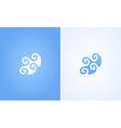 Sign of Wave ripple on white and blue background vector image