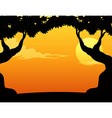 Silhouette view vector image