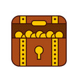 treasure chest game icon vector image