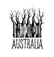 tree symbol continent vector image