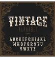 Vintage Western alphabet Decorative vintage vector image vector image