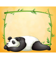 An empty frame and the sleeping panda vector image