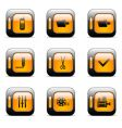 web icons set vector image vector image