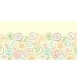 Colorful circles horizontal seamless pattern vector image