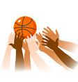 basketball game moment closeup vector image vector image
