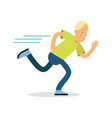active boy teenager running cartoon character vector image