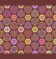 seamless pattern with cute little flowers vector image