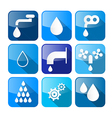Water Buttons - Symbols - Icons Set vector image vector image