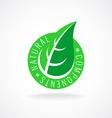 Natural leaf badge for package design vector image vector image