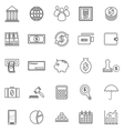 Banking line icons on white background vector image