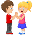 Cartoon children handrails vector image vector image