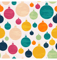 Seamless pattern with Christmas ball vector image vector image