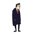 comic cartoon bad tempered man vector image