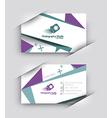 Modern Business Card Set vector image