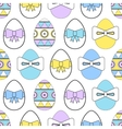 Seamless pattern with Easter eggs Decorative vector image vector image