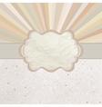 Vintage Sunburst Card vector image vector image