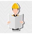 construction worker design vector image