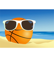 Basketball on a beach sand vector image vector image