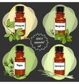 essential oils set 3 vector image