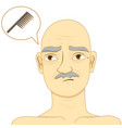 bald man think of using comb vector image
