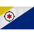 Bonaire waving flag vector image