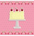 cherry cake vector image