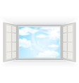 Clouds and blue sky background vector image