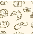 doodle bread set Seamless pattern vector image