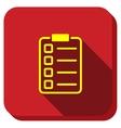 Exam Form Longshadow Icon vector image