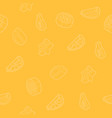fruit outline isometric pattern vector image