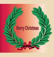 merry christmas wreath vector image