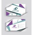 Modern Business Card Set vector image