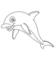 Outlined dolphin vector image