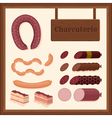 sausages vector image
