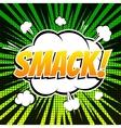 Smack comic book bubble text retro style vector image