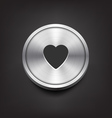Metal Heart Icon vector image