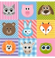 patchwork background with animals vector image