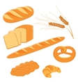 Homemade bread collection vector image