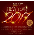 Classic Happy New Year 2017 greeting card vector image