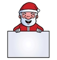 Santa Claus holding a blank sign vector image vector image